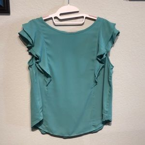 Sea foam green Ann Taylor Loft blouse